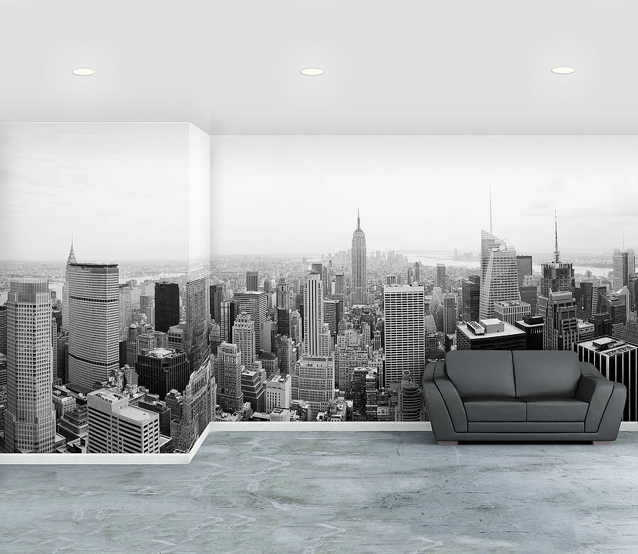 new york city self adhesive wallpaper mural by oakdene. Black Bedroom Furniture Sets. Home Design Ideas