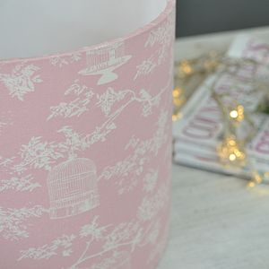 Handmade Birdsong Lampshade - bedroom