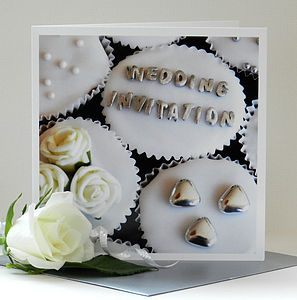Personalised Cupcake Wedding Invitations