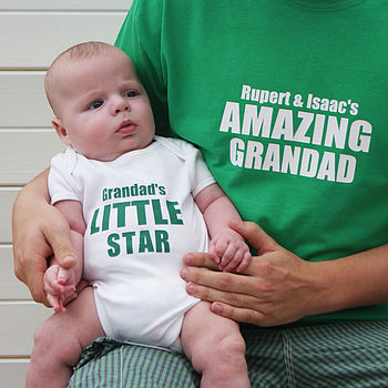 Personalised My Daddy/Grandad Bodysuit Set