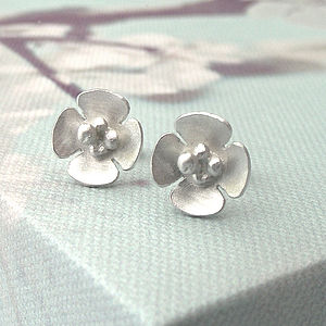 Blossom Flower Earrings - wedding jewellery