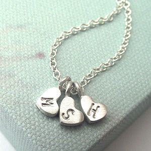 Personalised Little Love Heart Necklace - necklaces