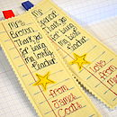 Personalised School Report Teacher Bookmark