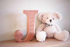Personalised Wooden Letter - outdoor decorations