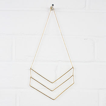 Gold Necklace Chevron Trio