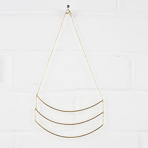 Gold Necklace, Luna Trio - women's jewellery