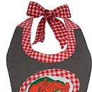 Appliqued 'Lobster And Salad' Apron