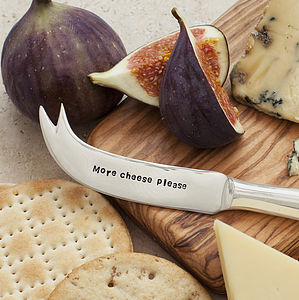 'More Cheese Please' Cheese Knife - for foodies