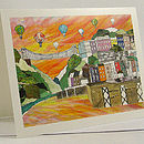 'Clifton Balloons Sunset' Greetings Card