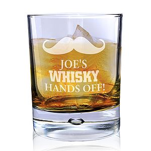 Personalised Moustache Whisky Glass - drink & barware