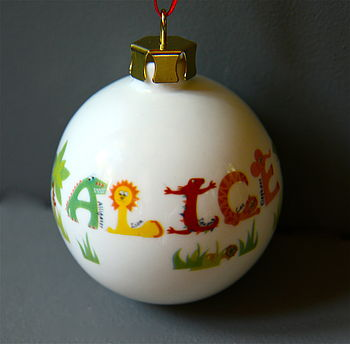 Animal Alphabet Bauble