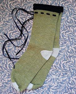 Handmade Ankle Socks With Ribbon
