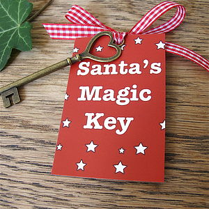 Santa's Magic Key - tree decorations