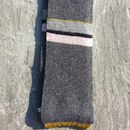 Handmade Knitted Stripy Scarf