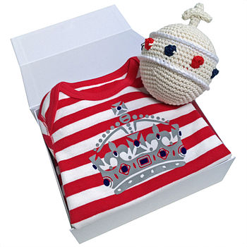 Babygrow And Orb Rattle Gift Set