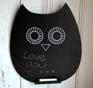 Chalk Board Owl - kitchen
