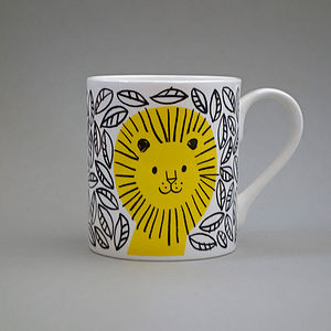 Lion Mug - crockery & chinaware