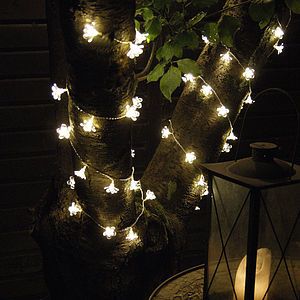 Outdoor Flower Light Garland
