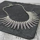 Metal Leaf Bib Necklace