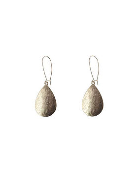 Teardrop earring - gold