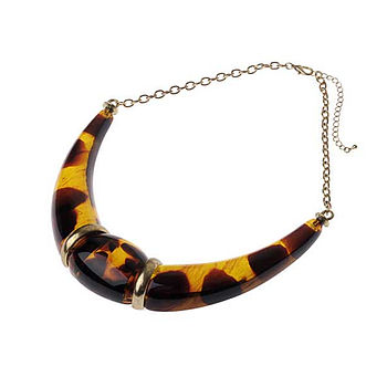 Half Moon Tortoiseshell Necklace