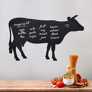 Write And Erase Cow Wall Sticker - noticeboards