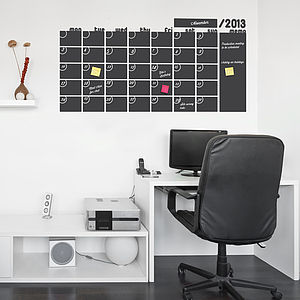 Monthly Calendar Write And Erase Wall Sticker - kitchen accessories