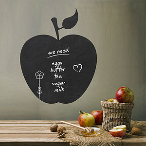 Write And Erase Apple Vinyl Wall Sticker - kitchen accessories