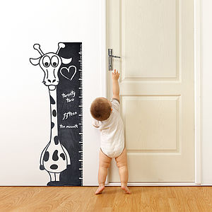 Write And Erase Giraffe Wall Sticker - height charts