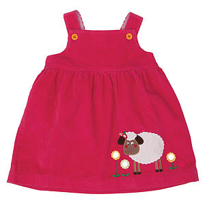 Sheila The Sheep Cord Pinafore Dress - clothing