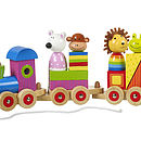 Wooden Pull Along Animal Train