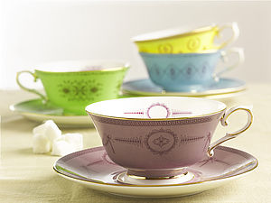 Bone China Teacup And Saucer - kitchen