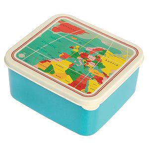 World Map Lunch Box