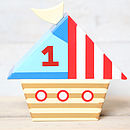 Wooden Boat Money Box Bank