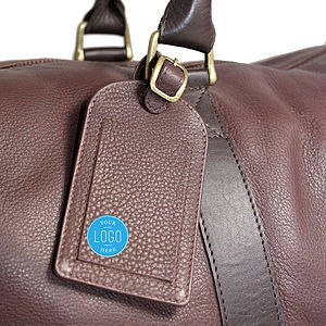 Personalised Corporate Gift Leather Luggage Tag