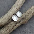 Silver Pebble Stud Earrings
