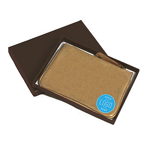 Corporate Gift Gold Leather Coin Purse - purses & wallets