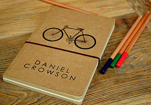 Personalised Notebook Vintage Bicycle - gifts for him
