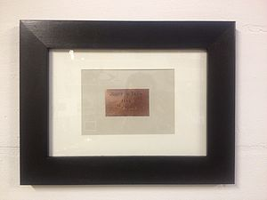 Framed Copper Plaque