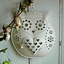 Hanging Owl Design Tea Light Candle Holder