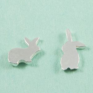 Sterling Silver Rabbit Earrings - earrings