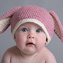 Hand Crochet Baby Rabbit Hats