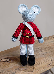 Hand Crochet Soldier Mouse
