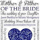 Mother Of The Bride Wedding Print