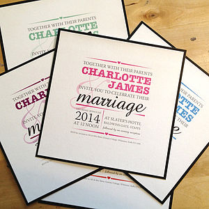 Charlotte Wedding Stationery Collection - invitations