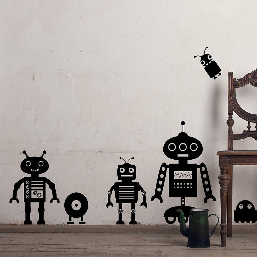 Robot Wall Sticker Pack Two
