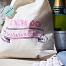 'Hen Do Survival Kit' Fairtrade Cotton Pouch