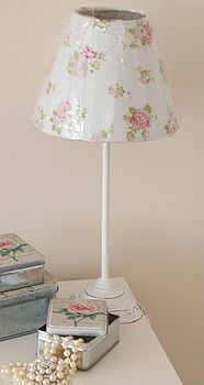 White Rose Table Lamp