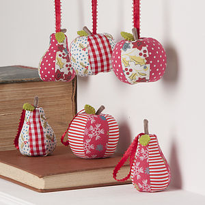 Apple And Pear Christmas Tree Decoration