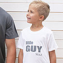 Personalised Little Guy T Shirt